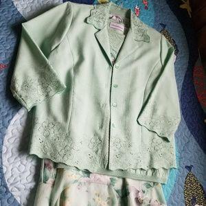 Alfred Dunner Sweater/Skirt/Jacket Set